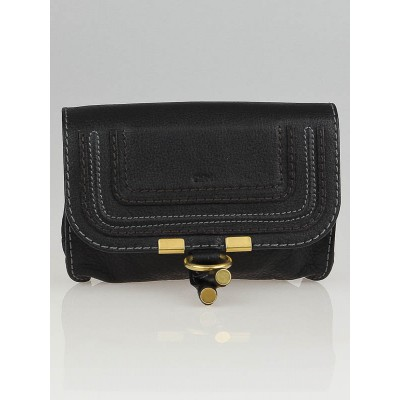 Chloe Black Leather Marcie Cosmetic Pouch