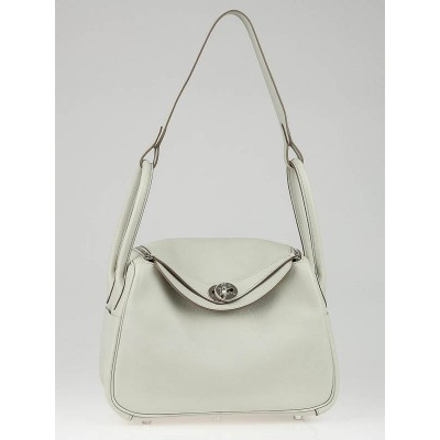 Hermes 26cm  Gris Perle Swift Leather Indy Bag