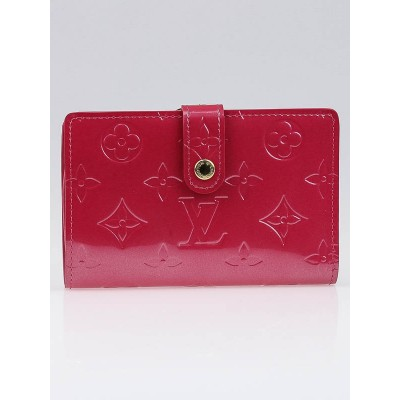 Louis Vuitton Framboise Monogram Vernis Port Feuille Vienoise French Purse Wallet