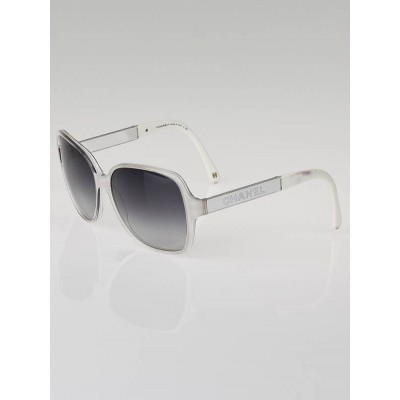 Chanel White Oversized Frame Miroir Collection Sunglasses-5168