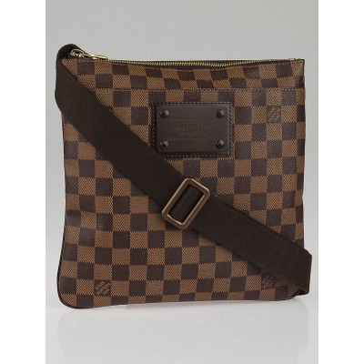 Louis Vuitton Damier Canvas Brooklyn Pochette Plate Messenger Bag