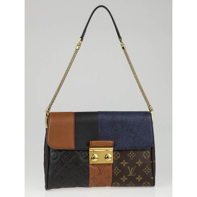 Louis Vuitton Limited Edition Marine Monogram Blocks Pochette Plate Clutch Bag