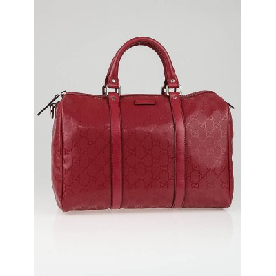 Gucci Red GG Coated Canvas Medium Joy Boston Bag