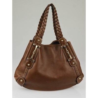 Gucci Brown Leather Medium Pelham Shoulder Bag