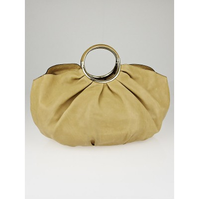 Christian Dior Beige Leather Soft Babe Shopping Bag