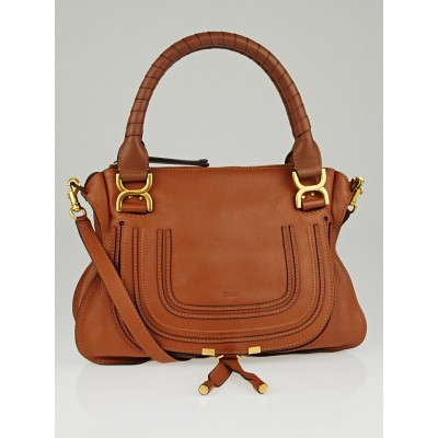 Chloe Whiskey Leather Medium Marcie Shoulder Bag