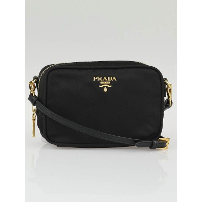 Prada Black Tessuto Nylon Mini Crossbody Bag