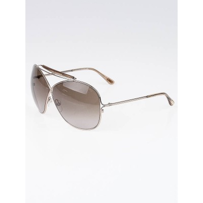 Tom Ford Gold Metal Frame Catherine Sunglasses