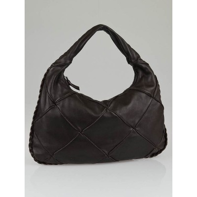 Bottega Veneta Ebano Nappa Leather Diamond Medium Hobo Bag