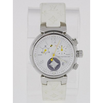 Louis Vuitton 34mm White Tambour Lovely Cup Watch