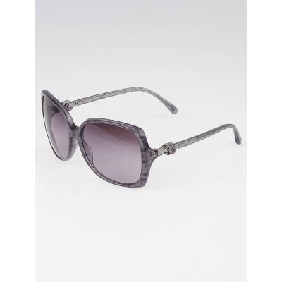 Chanel Purple/Grey Square Oversized Frame CC Sunglasses-5216