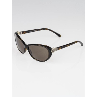 Chanel Tortoise Shell Frame Collection Bouton CC Sunglasses-5190