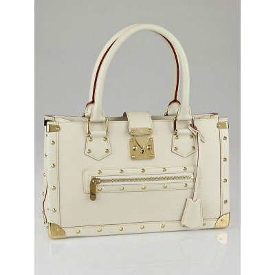 Louis Vuitton White Suhali Leather Le Fabuleux Bag