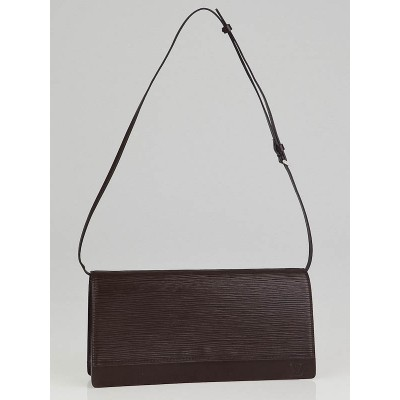Louis Vuitton Moka Epi Leather Honfleur Clutch Bag