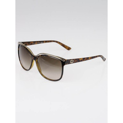 Gucci Brown Tortoise Frame Gradient Tint Cat-Eye Sunglasses-3155/S