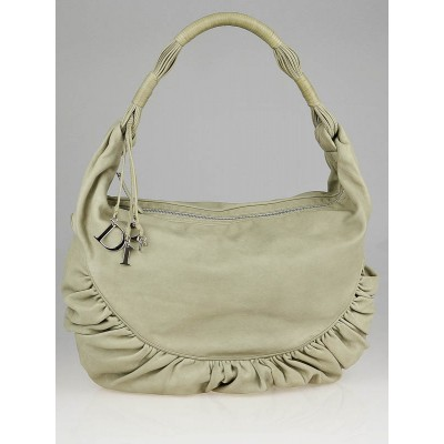 Christian Dior Cream Calfskin Leather Gypsy XXL Hobo Bag