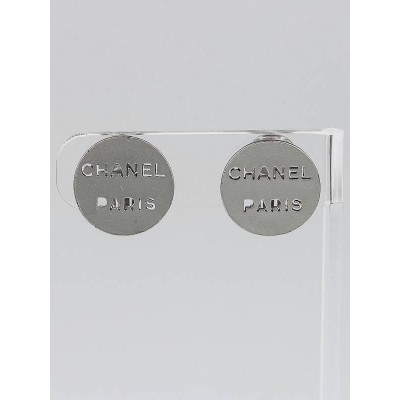 Chanel Perforated Logo Clip-On Earrings
