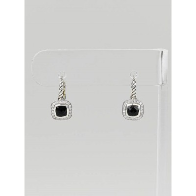 David Yurman Sterling Silver and Black Onyx Albion Drop Earrings