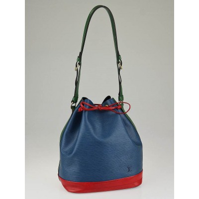 Louis Vuitton Blue/Red/Green Tri-Color Epi Leather Large Noe Bag