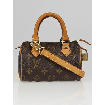 Louis Vuitton Monogram Canvas Mini HL Bag w/ Shoulder Strap