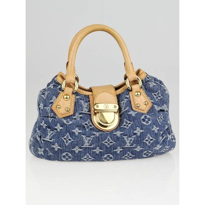 Louis Vuitton Blue Denim Monogram Denim Pleaty Bag