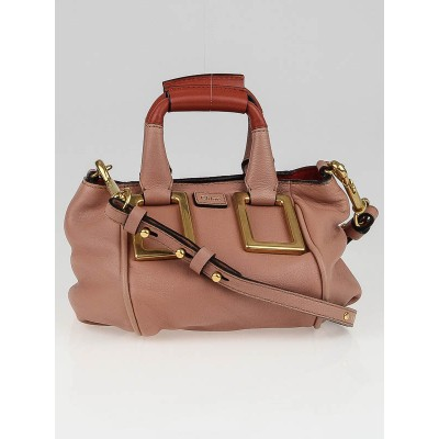 Chloe Waterlily Glazed Leather Mini Ethel Crossbody Bag