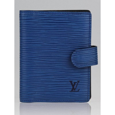Louis Vuitton Toledo Blue Leather Mini Agenda/Notebook