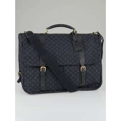 Louis Vuitton Blue Monogram Mini Lin Canvas Sac a Langer Diaper Bag