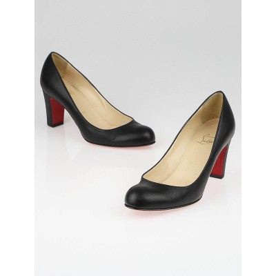 Christian Louboutin Black Leather Miss Tack Pumps Size 6.5/37
