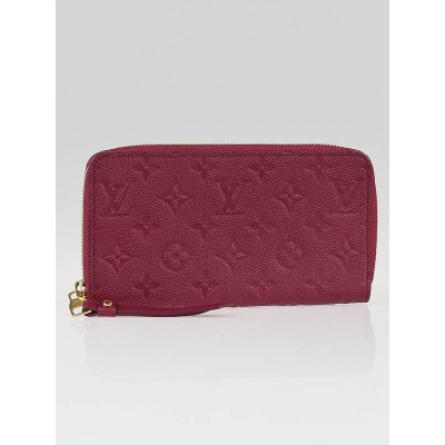 Louis Vuitton Aurore Monogram Empreinte Leather Secret Long Wallet