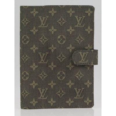 Louis Vuitton Khaki Monogram Mini Lin Small Agenda/Notebook Cover
