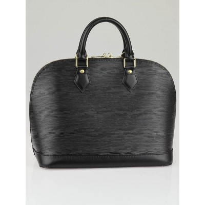 Louis Vuitton Black Epi Leather Alma Bag
