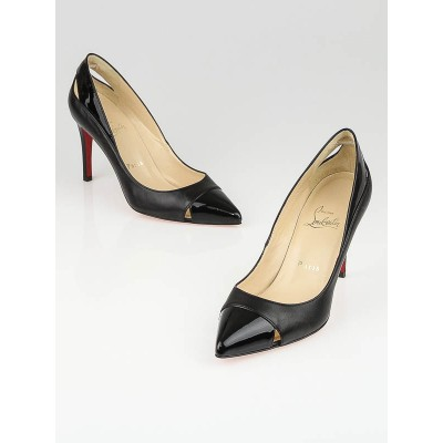 Christian Louboutin Black Leather Pigalle Cutout Pumps Size 6.5/37