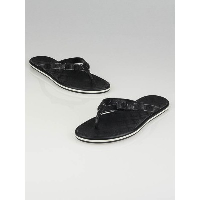 Louis Vuitton Black Rubber Ipanema Flat Thong Sandals Size 8.5/39