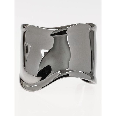 Tiffany & Co. Charcoal Ruthenium Elsa Peretti Bone Cuff Bracelet