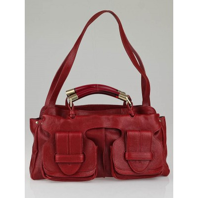 Chloe Red Leather Saskia Medium Satchel Bag