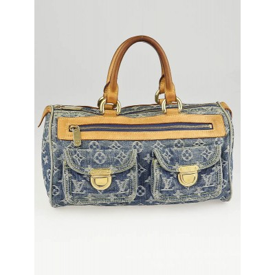 Louis Vuitton Blue Denim Monogram Denim Speedy Bag