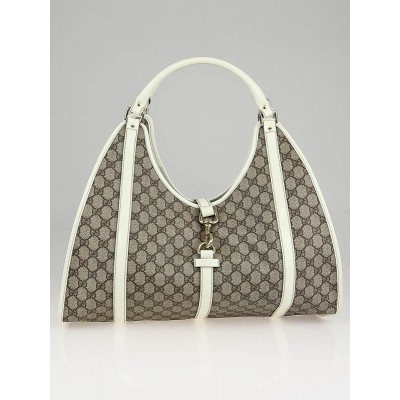 Gucci Beige/White GG Coated Canvas Joy Shoulder Bag