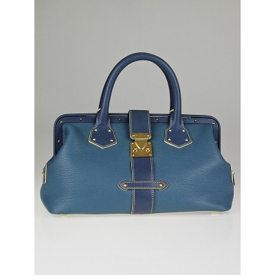 Louis Vuitton Blue Suhali Leather L'Ingenieux PM Bag