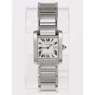 Cartier Stainless Steel Tank Francaise Medium Quartz Watch W51011Q3