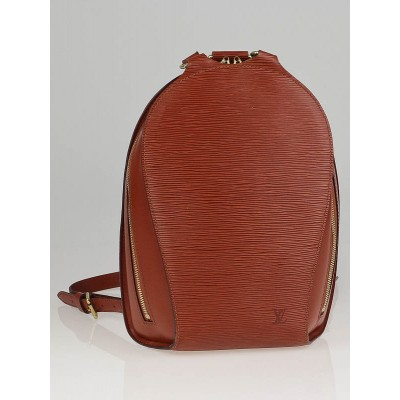 Louis Vuitton Fawn Epi Leather Mabillon Backpack Bag