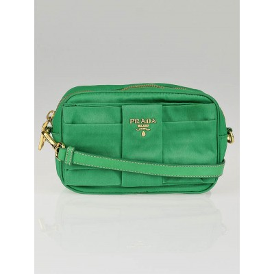 Prada Green Tessuto Nylon Bow Crossbody Bag