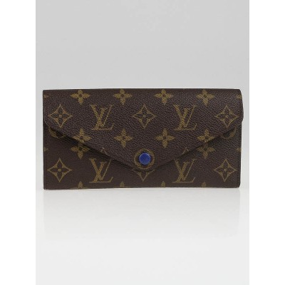 Louis Vuitton Blue Monogram Canvas Josephine Wallet