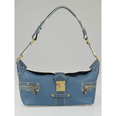 Louis Vuitton Blue Suhali Leather L'Impetueux Bag