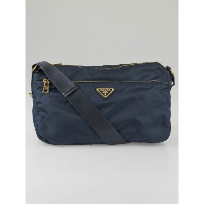 Prada Denim Nylon Vela Colour Sacca Messenger Bag BT0742