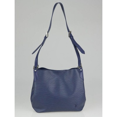 Louis Vuitton Myrtille Blue Epi Leather Mandara Bag