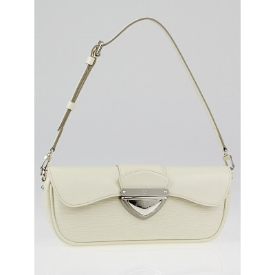 Louis Vuitton White Epi Leather Montaigne Clutch Bag