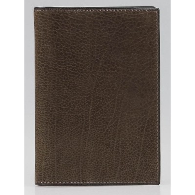 Hermes Chocolate Eversoft Suede Grand Modele Agenda Cover