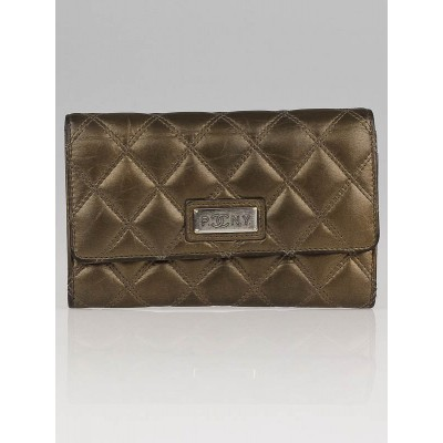 Chanel Bronze Quilted Calfskin Leather Flap Wallet (PNY- Paris New York)
