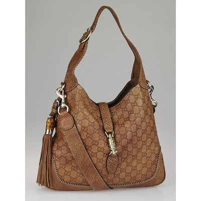 Gucci Tan Guccissima Leather New Jackie Shoulder Bag